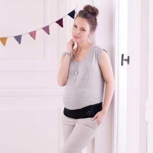 Anita Maternity - Negru, BABY SHERPA, centura prenatala
