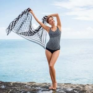 Anita Maternity - Negru-alb, Lelepa, costum de baie tankini pentru gravide