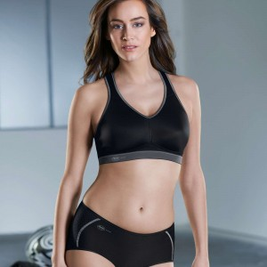 Anita Active - Negru, T-back power, sutien sport