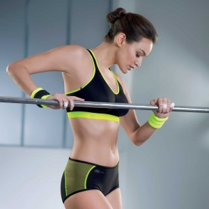 Anita Active - Lime, T-back power, sutien sport
