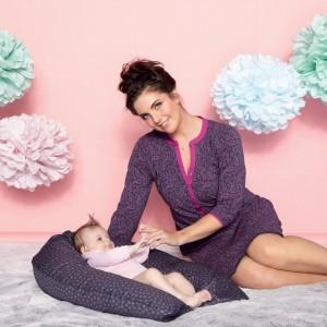Anita Maternity - Hot pink, Gesa, 2 in 1 camasa de noapte pentru gravide si pentru alaptare