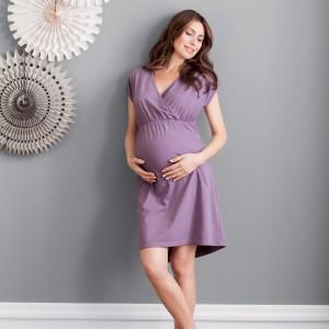 Anita Maternity - Light Grape, 2 in 1 camasa de noapte pentru gravide si pentru alaptare