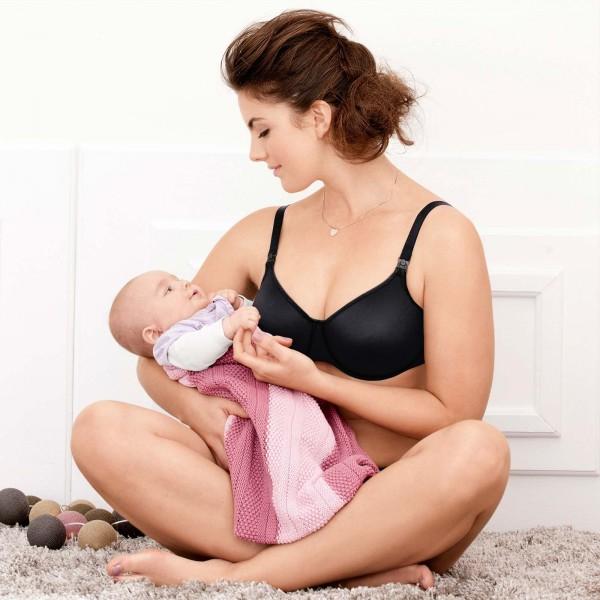 Anita Maternity - Negru, sutien pentru alaptare cu sarme
